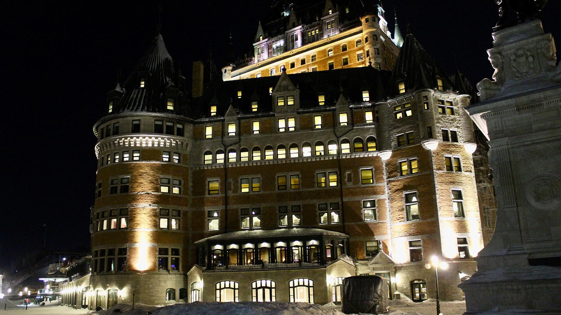 chateau frontenac quebec de nuit