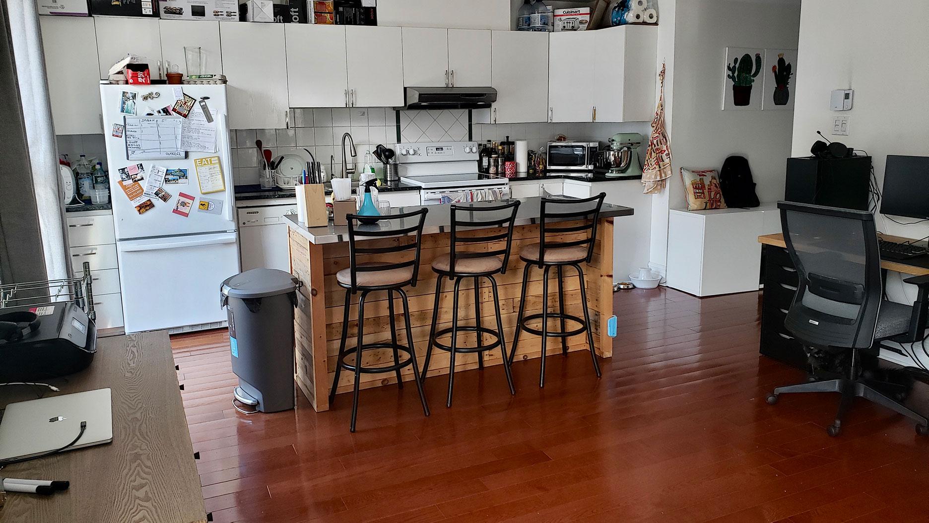 cuisine d'un appartement à montreal