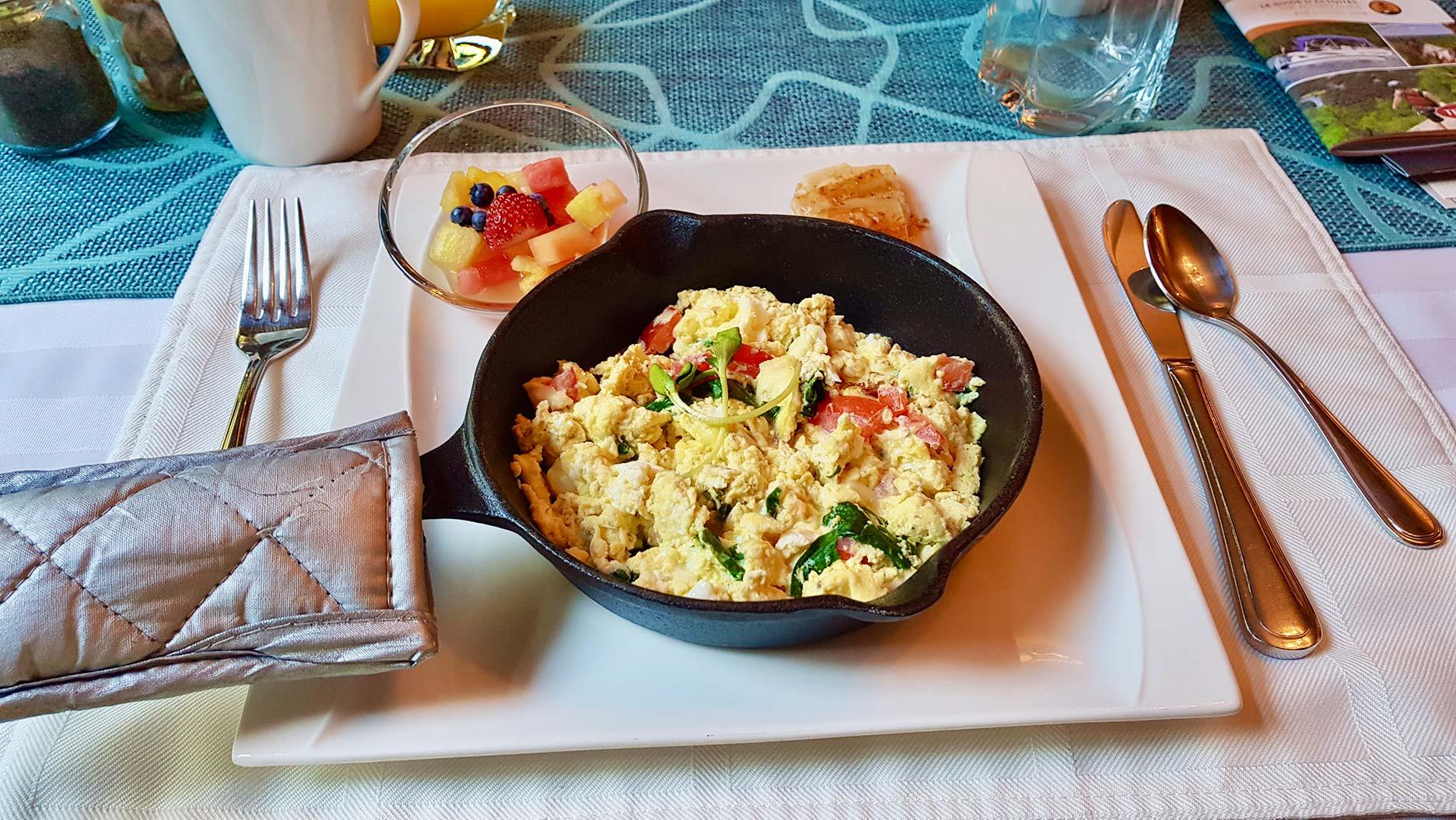 casserole d'omelette à l'auberbe le cosy