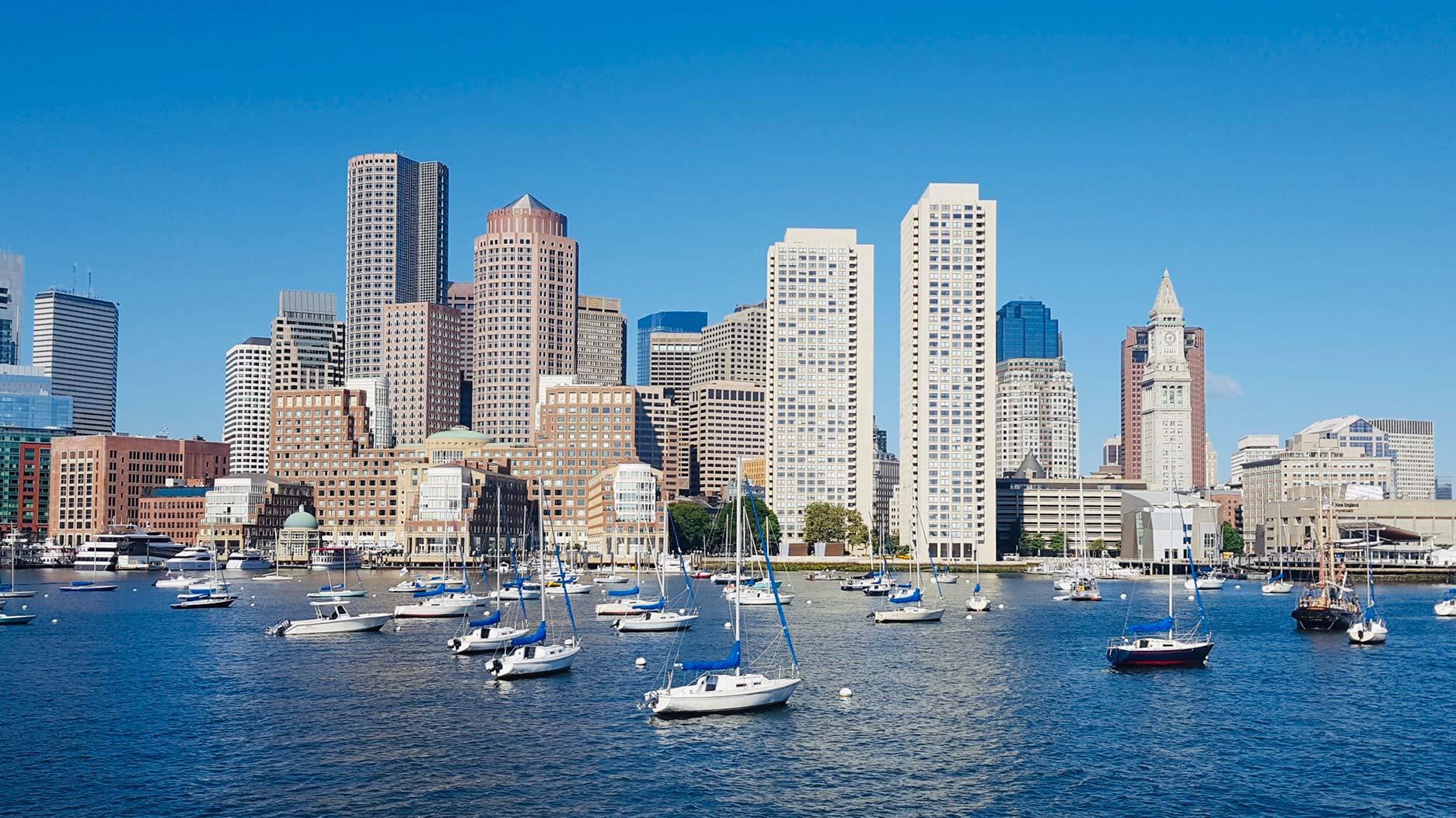 vue sur boston depuis le port